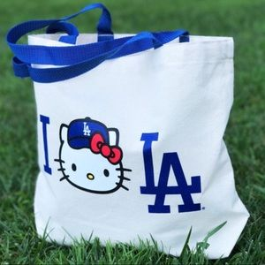 Handbags - NWOT Dodgers Hello Kitty Canvas Tote Bag